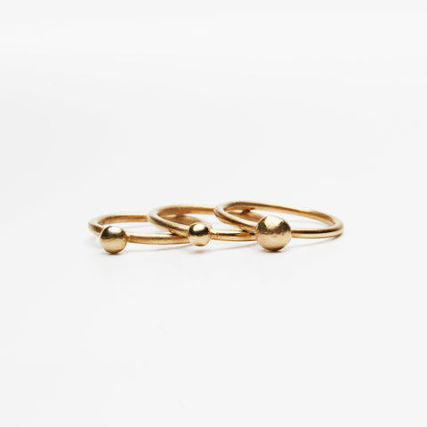 GOLD LUMP Gold Plated Ring