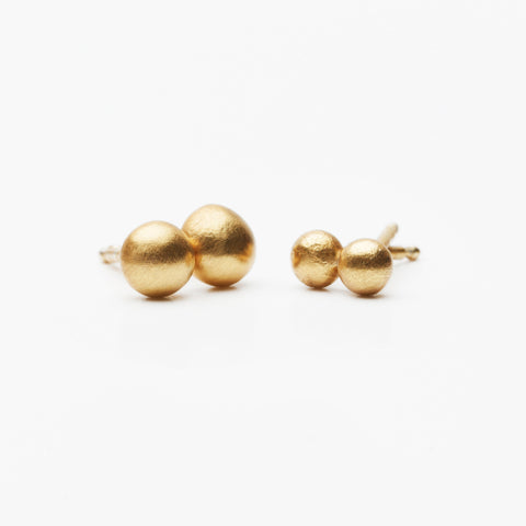 LESS IS MORE 6/4 Square Tube 18 K Gold Earring