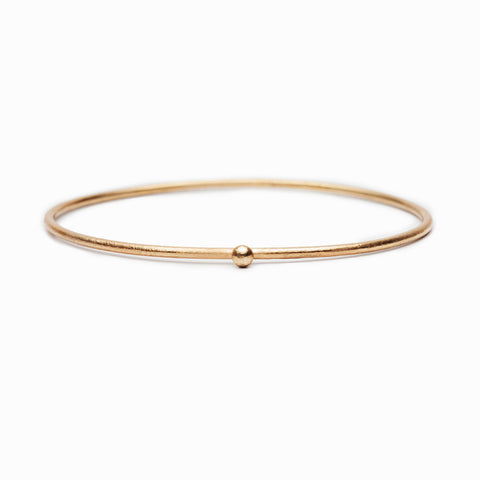 LESS IS MORE 5 mm Gold Plated Tube Ring