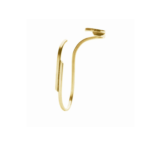 Surma Ear Stud - Petite, Gold-plated Sterling Silver