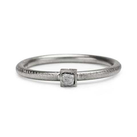 RAW Silver Diamond Ring