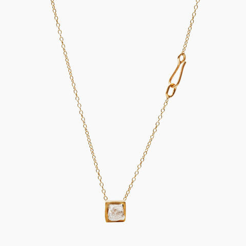 RAW Diamond Gold Plated Pendant