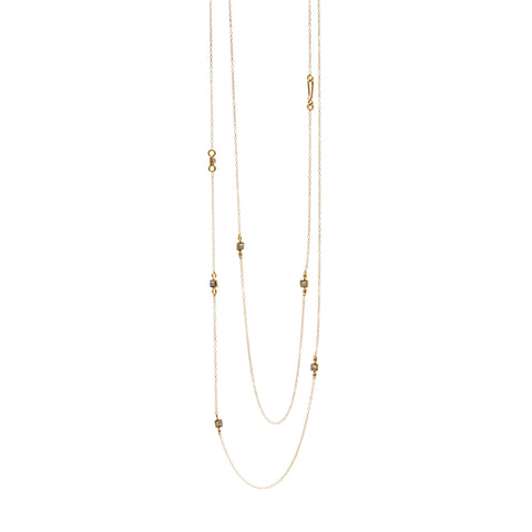 RAW Diamond Gold Plated Necklace