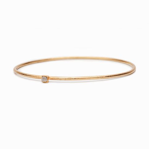 RAW Diamond Rose Gold Plated Bracelet