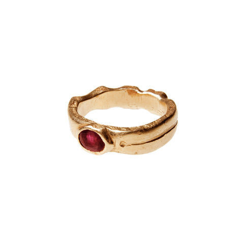 RA Sun God 18 K Gold Ring