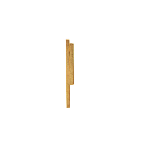 LESS IS MORE 5 Square Tube 18 K Gold Earring
