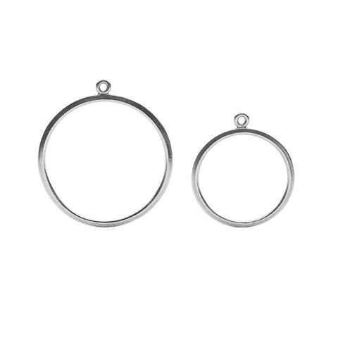 O Collection Black Silver Earring