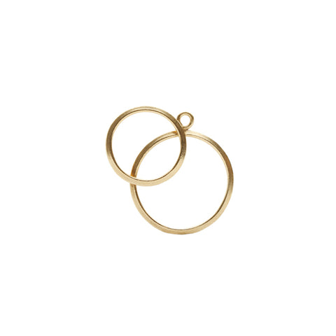 O Collection Gold Plated Earring