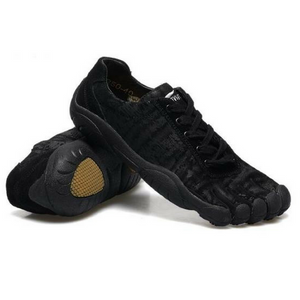 Leather Skeletoes Shoes - Black