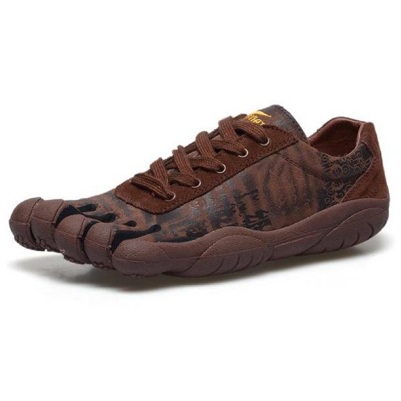 Leather Skeletoes Shoes - Brown