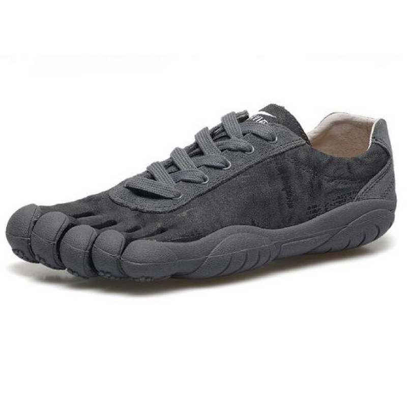 Leather Skeletoes Shoes - Dark Grey