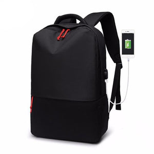 Anti Theft Oxford Backpack - Black