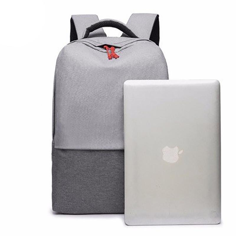 Anti Theft Oxford Backpack - Gray