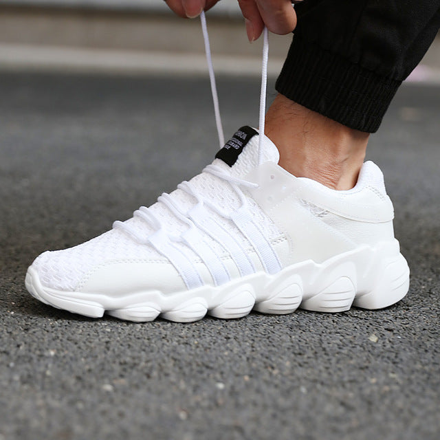 Air Mesh Running Shoes - White