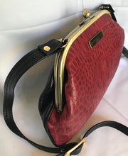 Load image into Gallery viewer, 4057G Flat-Red Croco Crossbody