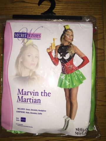 Marvin the Martian Sexy Halloween Costume for Women Size medium (6-10)