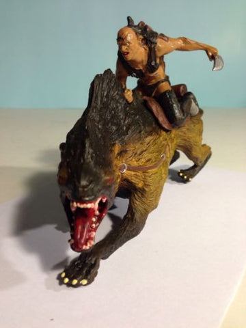 "LOTR 2002 Two Towers Orc Sharku On Warg 7 1/2"" non possible Figure"