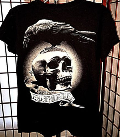 SDCC The Expendables Skull Raven T-Shirt Rare San Diego Comic Con