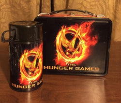 The Hunger Games  Lunch Box  & Thermos Mockingjay New W/ Some Scratche