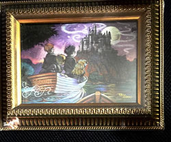 Harry Potter Journey To Hogwarts Lithograph Framed SEALED!  981/1000