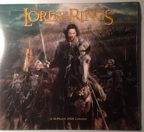 Lord Of The Rings 16 Month 2006 Calendar