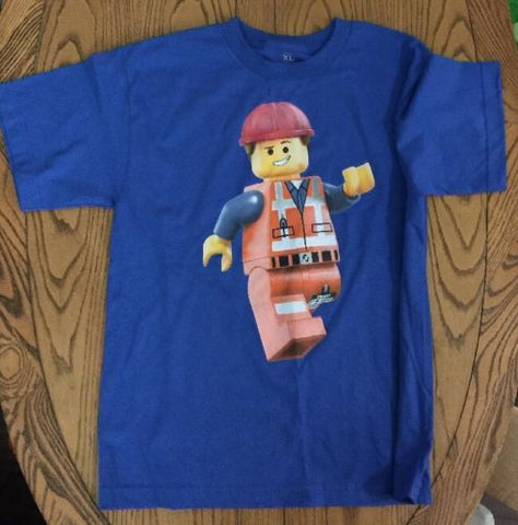 LEGO Emmet Blue T-SHIRT Youth   X-L 100% cotton,OFFICIAL WARNER BROS NEW!