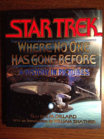 "Star Trek Hard Cover 208 Pages ""WHERE NO ONE HAS GONE BEFORE"""
