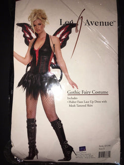 Leg Avenue Womens Fairy Gothic Outfit Fancy Dress Sexy Halloween Costume
