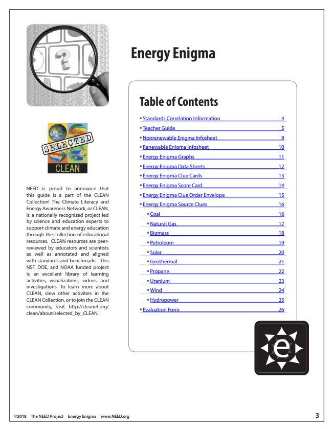Energy Enigma (Free PDF Download) – The NEED Project