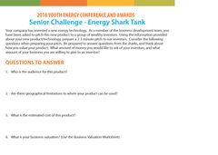 2018 Youth Awards STEM Challenges (free PDF download)