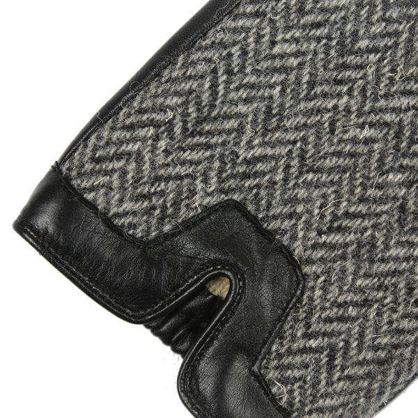 FALCON Men's Tweed & Leather Driving Gloves