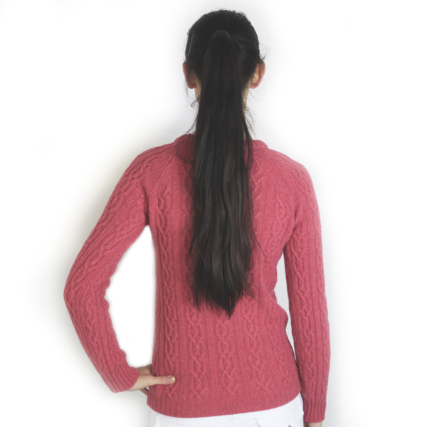 SPARROW Geelong Lambswool Cable Knit Jumper