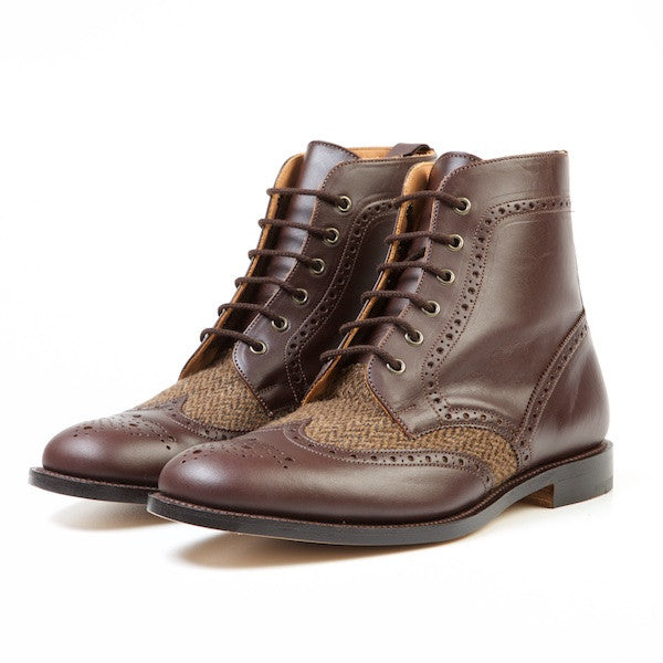 HAWK Men's Tweed Brogue Boots