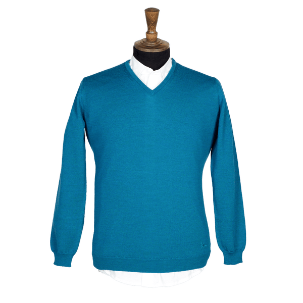 KITE Men's V-Neck Extrafine Merino Jumper