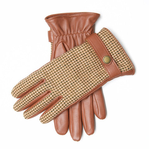 CHAFFINCH Tweed & Leather Gloves