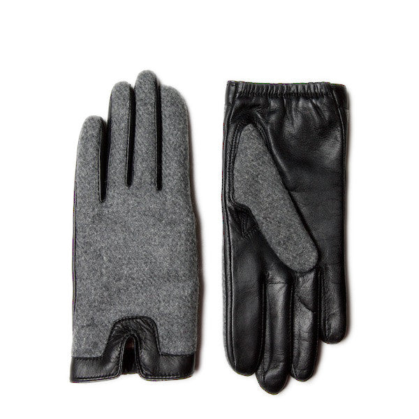 LINNET Women's Tweed & Leather Driving Gloves