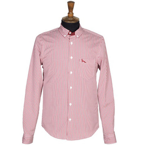 WOODLARK Wine Gingham Shirt