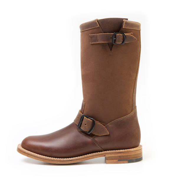 GANNET Brown Leather Engineer Boots