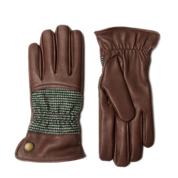 GOSHAWK Men's Tweed & Leather Gloves