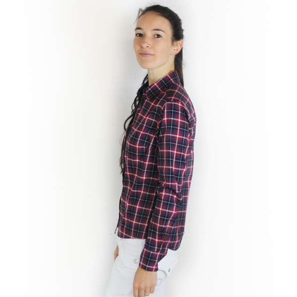 SWIFT Navy & Burgundy Check Shirt