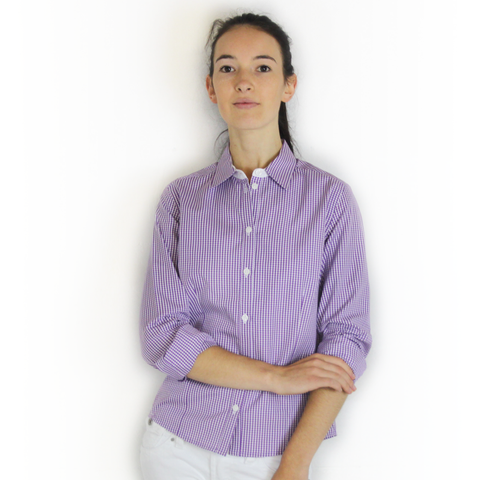 SWIFT Purple Gingham Shirt