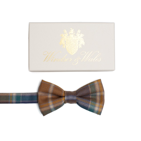 WREN Hunting Tweed Bow Tie