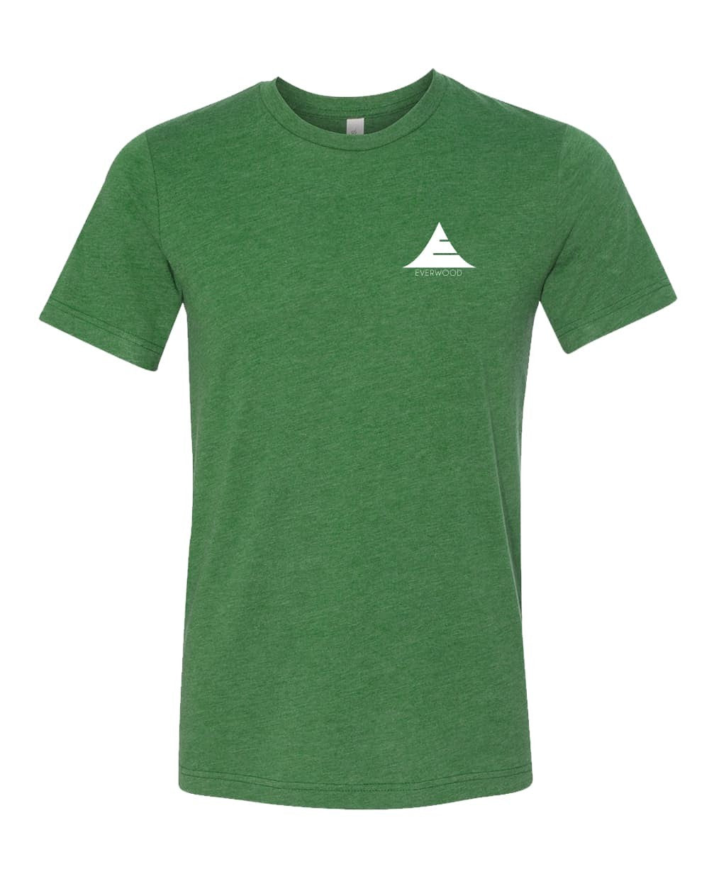 Everwood Watch Company Icon Logo Tri-Blend Short Sleeve Shirt Green