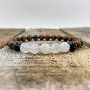 Kingston | Moonstone, Dark Sandalwood, & Lava Rock