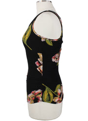 Willem Jean Isabella Rouched Floral Tank Top side