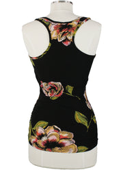Willem Jean Isabella Rouched Floral Tank Top back