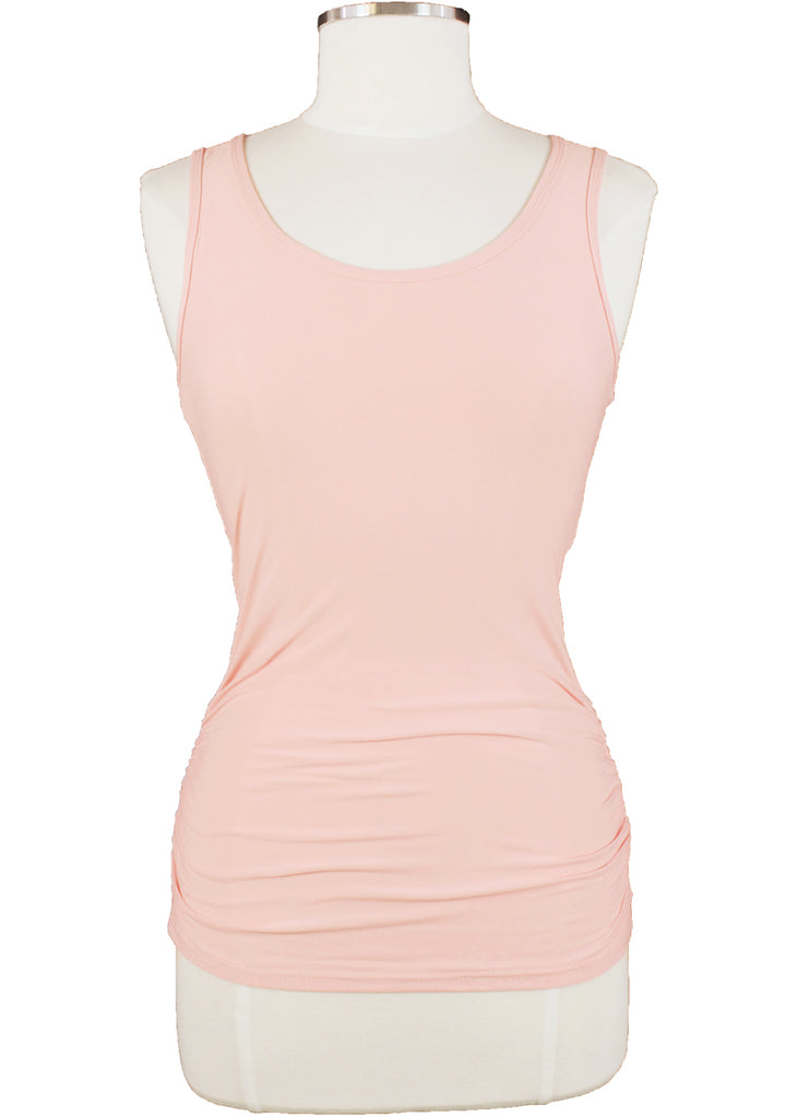 Willem Jean Isabella Rouched Solid Tank Top front