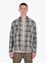ZANEROBE Plaid Long Sleeve Shirt front