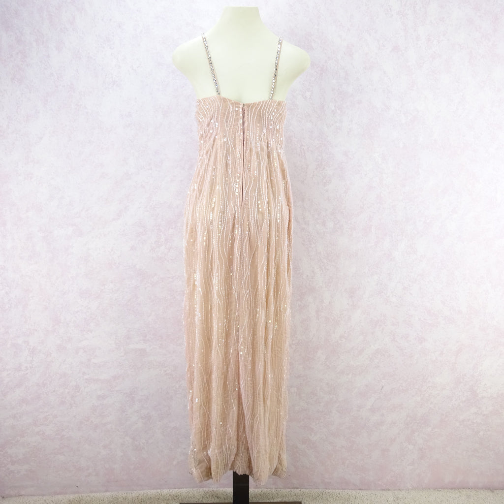 Vintage 80s Beaded Gown w/Wrap Skirt iu