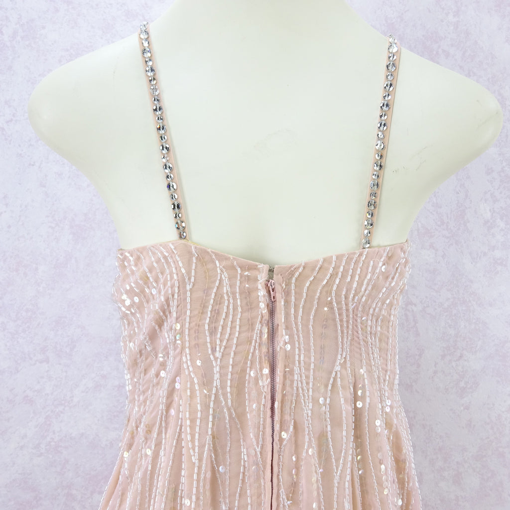 Vintage 80s Beaded Gown w/Wrap Skirt yt